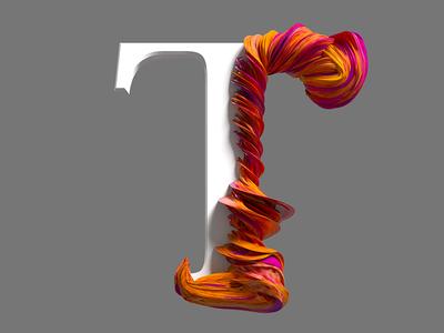 T type design cinema4d 3d