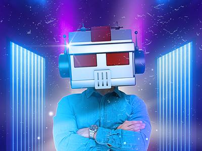 Robot head filter future robot maxon cinema4d 3d