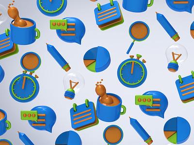 Icons graphic design 3d