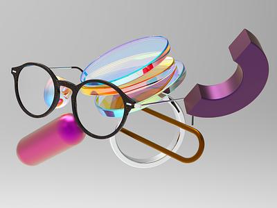 Glasses design pixel cinema4d 3d glasses
