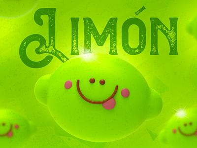 Limón illustration design pixel cinema4d 3d