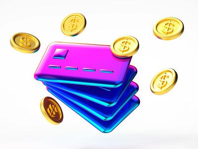 Money cinema4d pixel graphic design 3d