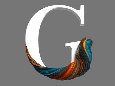 G design illustration branding logo cinema4d 3d graphic design