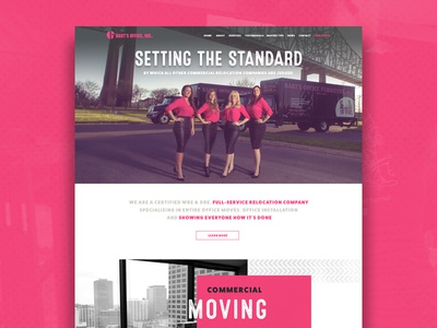 Bart's Moving Website Layout moving company pink movers moving web design layout website web design