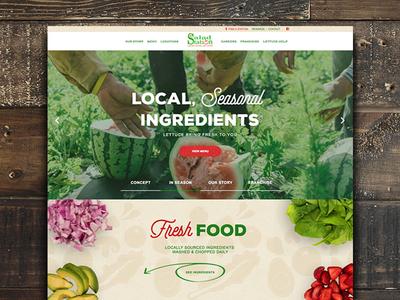Salad Station | Restaurant Web Design
