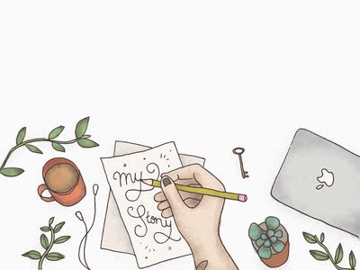 Creative Workspace | Website Banner Illustration