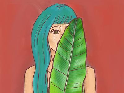 Leaf me alone | Illustration Collage