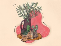 Plants around the house | Illustration