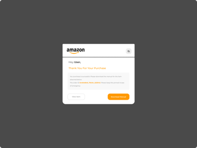 Email Receipt ecommerce mobile web userexperience emailreceipt ui ux 017 dailyui