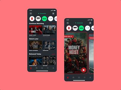 TV App app mobiledesign tvapp smarttv userexperience ux ui 025 dailyui