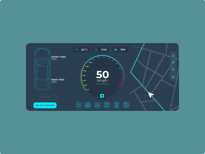 Car Interface dashboard car ui ux 034 dailyui