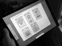 Mirror Wireframe Sketches