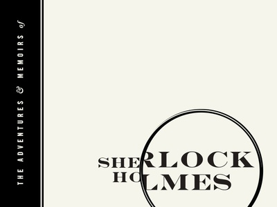Sherlock Holmes glass magnifying detective holmes sherlock book titles 100 days project