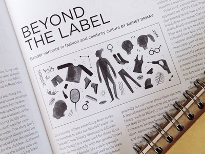 Beyond the Label male female fashion watercolor spot illustration editorial
