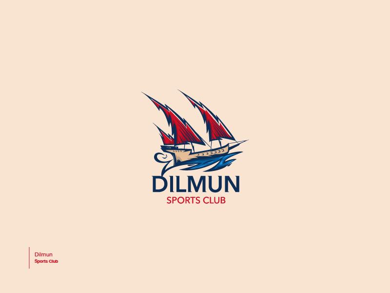 Dilmun culture arabic sports sports logo branding brand vector illustration logo