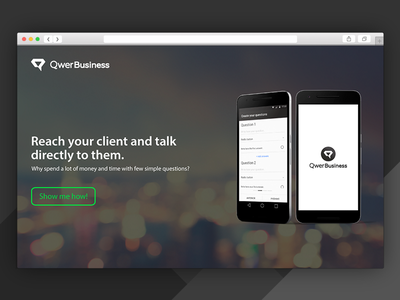Landing Page - Qwer Business - #DailyUI03 question ask qwer page landing landing page daily ui 03 daily ui dailyui 002