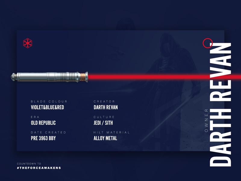 Darth Revan - Star Wars Lightsabers Series revan darth dark side sith jedi force the force awakens lightsaber series wars star star wars