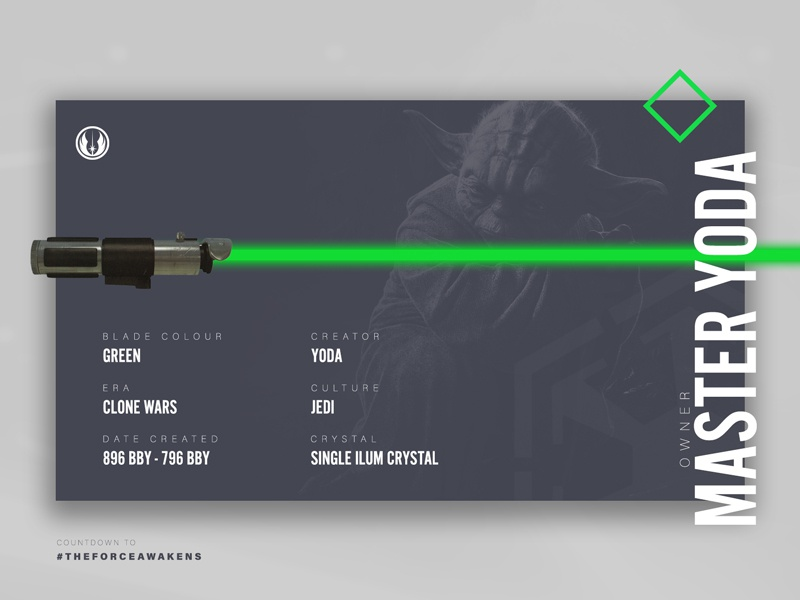 Yoda - Star Wars Lightsabers Series jedi master the force awakens lightsaber wars star star wars yoda