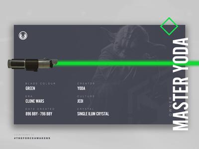 Yoda - Star Wars Lightsabers Series jedi master the force awakens lightsaber wars star star wars yoda