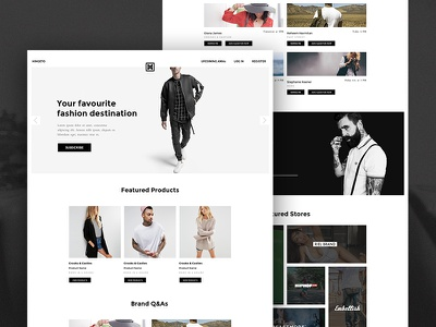Hingeto - Landing Page fashion clothes white black hero store landing landing page