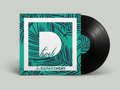 Fresh Department - Art Direction print fresh tropic vinyl house label music art direction logo