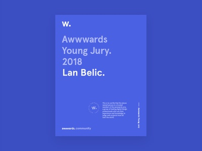 I joined Awwwards Young Jury jury young awwwards
