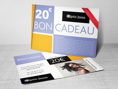 Gift voucher coupon clean print bon cadeau optic 2000 gift voucher