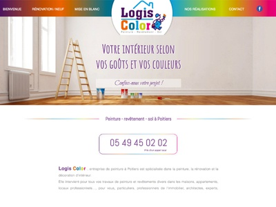 Logis Color painting web design poitiers paint website