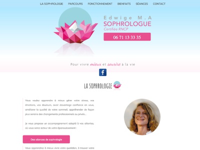Sophrology website sophrology poitiers sophrologie webdesign website