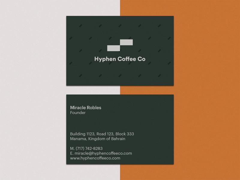 Hybhen coffee business card design typeface brand-mark logo branding
