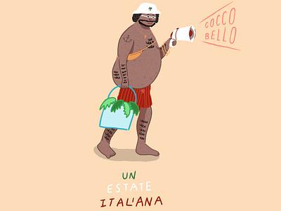 Coco Bello beach summer cocobello graphic design design illustration character design