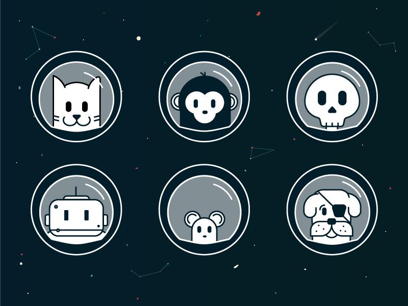 Space Avatars astronaut animals stars space avatars