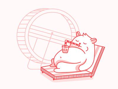 Brake Time work brake wheel cute animal hamster