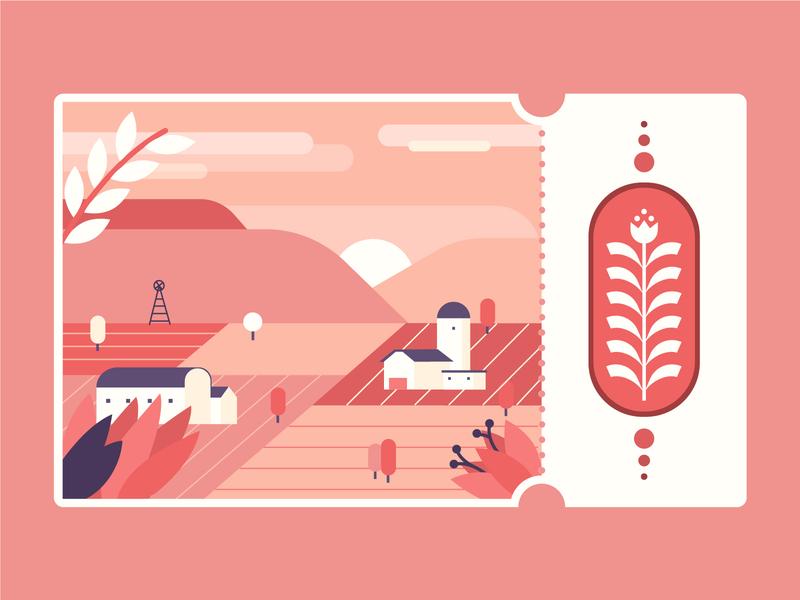 voucher flat illustration
