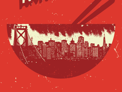 Local Awareness Poster san francisco facebook noir poster illustration