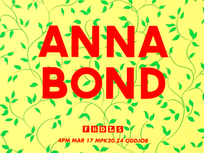 Anna Bond poster for FBDLS screenprint fbdls facebook illustration poster