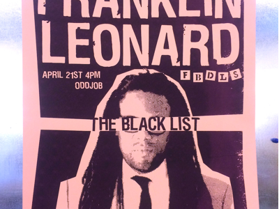 Franklin Leonard Poster poster screenprint fbdls