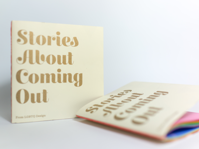 Stories About Coming Out - Facebook LGBTQ Design lgbtq pride coming out risograph riso analog lab analog french paper book zine