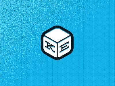 Personal Logo in Cube logo personal logo mark personal mark isometric isometric grid grid cube deming k e icon