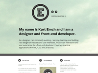 Portfolio site – Home Page draft