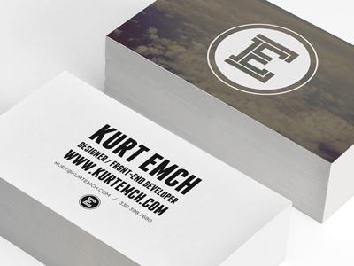 Personal Business Card  business card branding card print biz biz card slab franchise lost type e