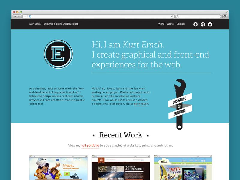 Portfolio Website website personal branding home page adelle design blueish self-identity