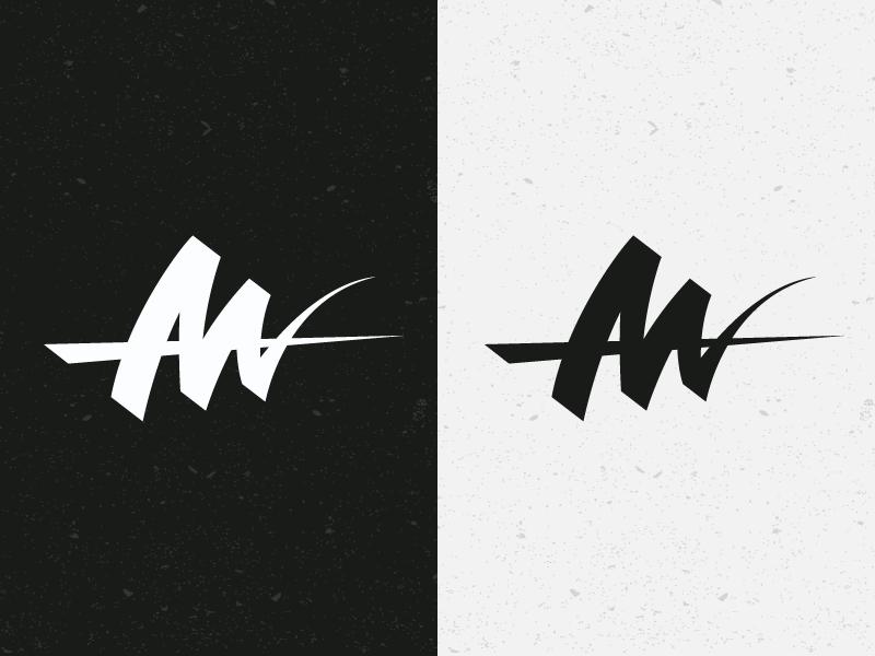 AM Logotype idea type identity brand minimal simple letters logotype logo