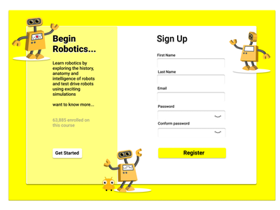 Simple Sign Up uidesign web design dailyui ux ui