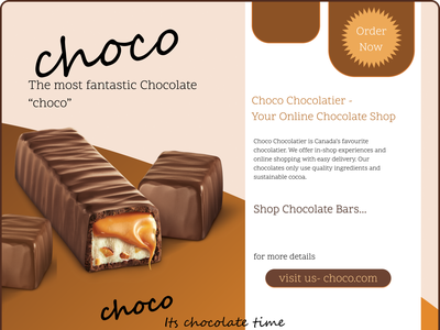 Online chocolate shop ui design