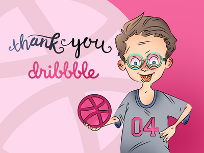 Hello Dribbble! sketch lettering handrawn drawing illustration new hello firstshot invite invitation cartoon first