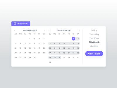 Date/Calendar Widget chat transcript calendar widget keyword report website data dashboard analytics sentiment chart