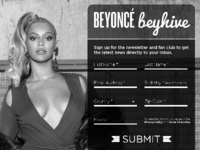 DailyUI 001 Beyhive Signup Form Redesign