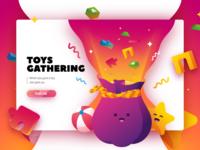 Toys gathering