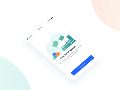 App update illustration illustration ios isometric layout gradients